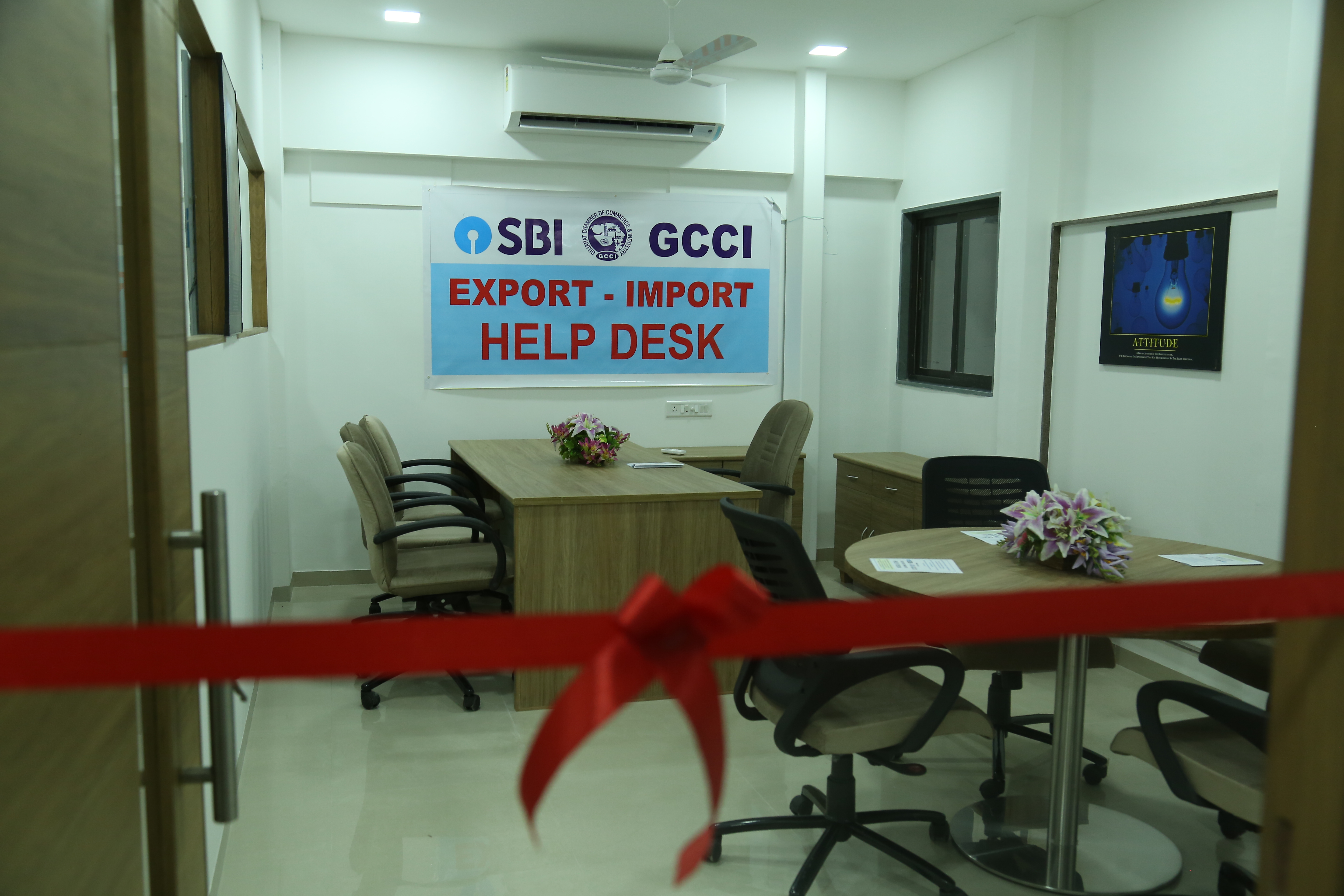 "Challenges & Opportunities for MSME Sector in International Trade"" and Launching of ""SBI- GCCI Export- Import Helpde"