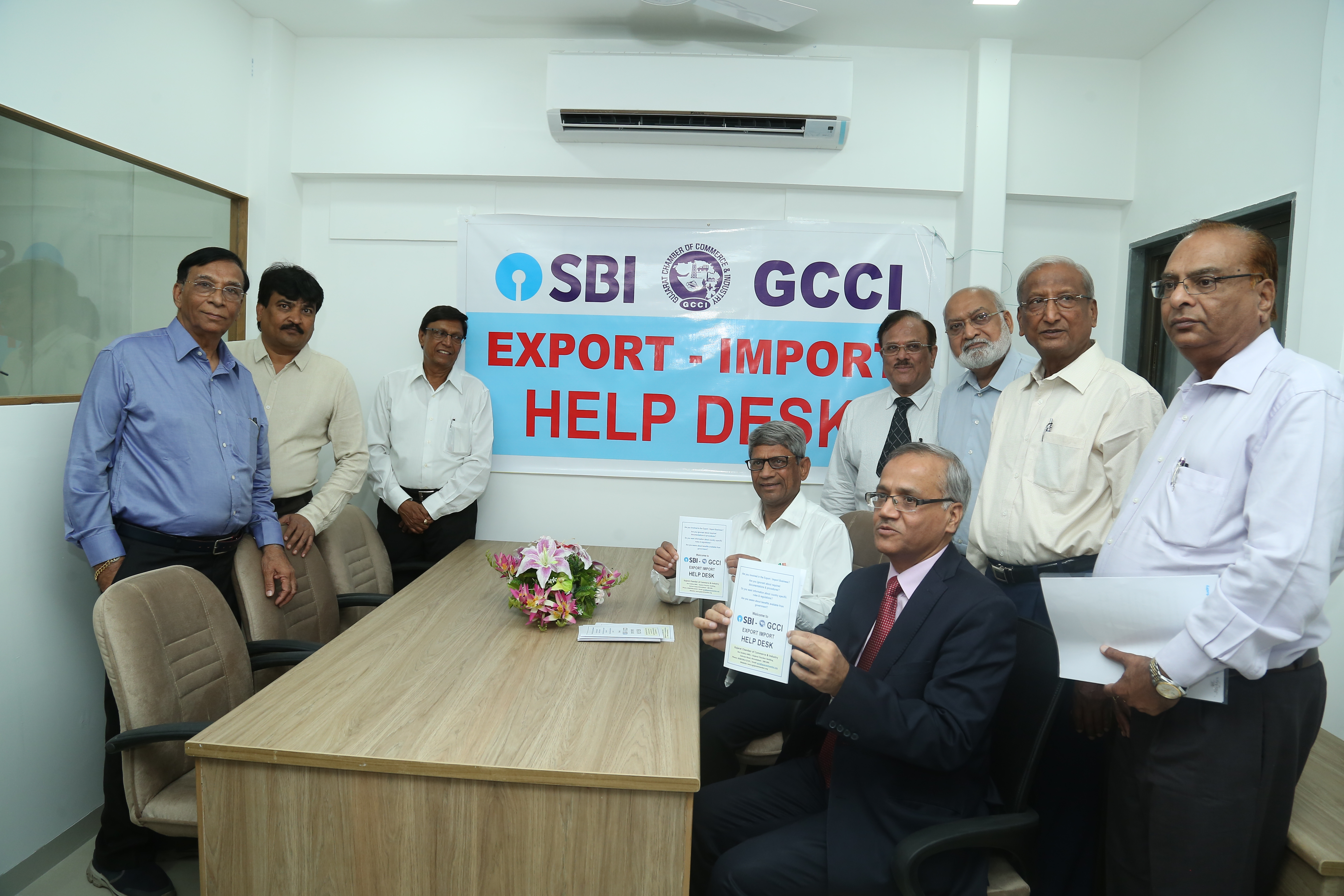 GCCI has set up an SBI- GCCI Export Import Help Desk which be officially launched